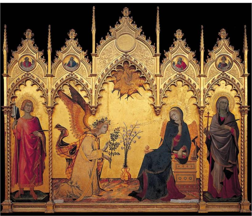 La Anunciacion de Simone Martini