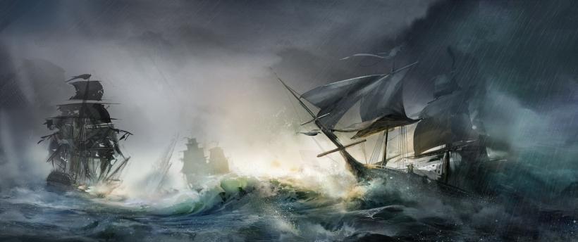 barcos tormenta