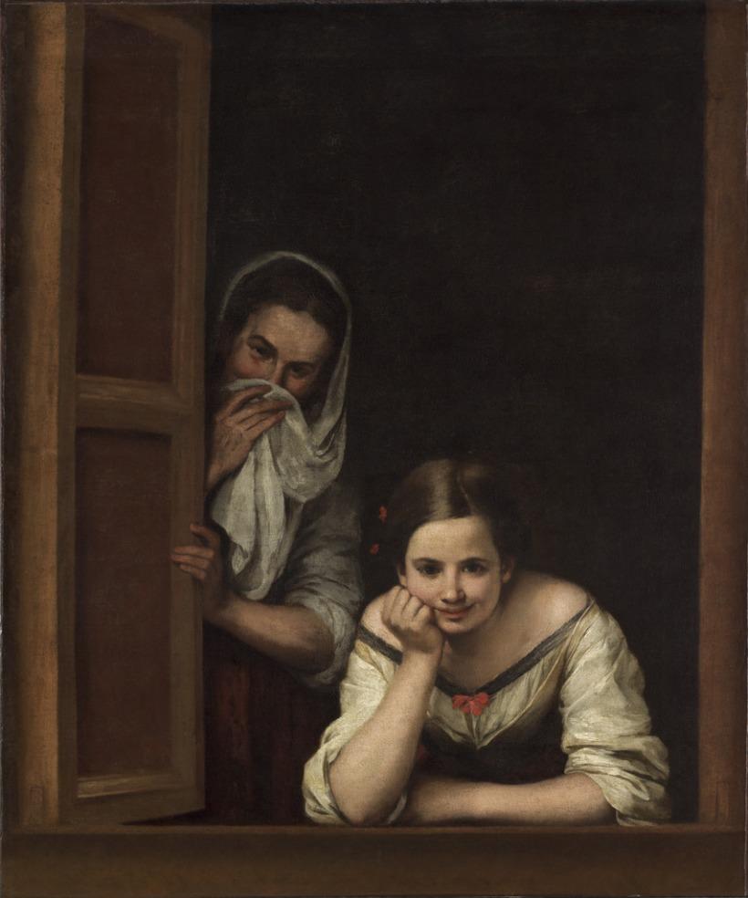 Bartolomé Esteban Murillo - 2 mujeres en la ventana